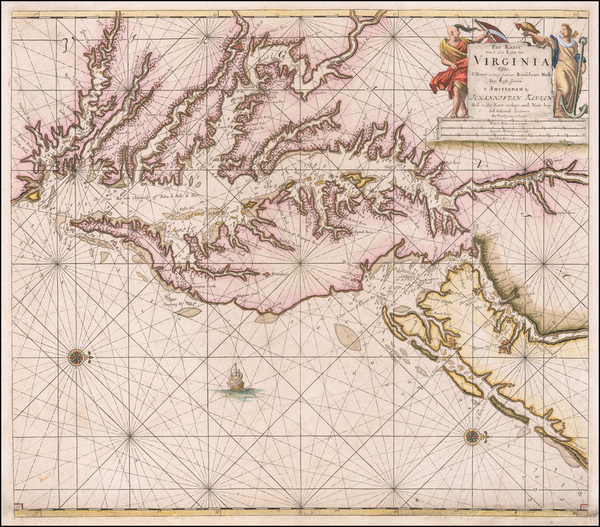 34-Mid-Atlantic, Southeast and Virginia Map By Johannes Van Keulen