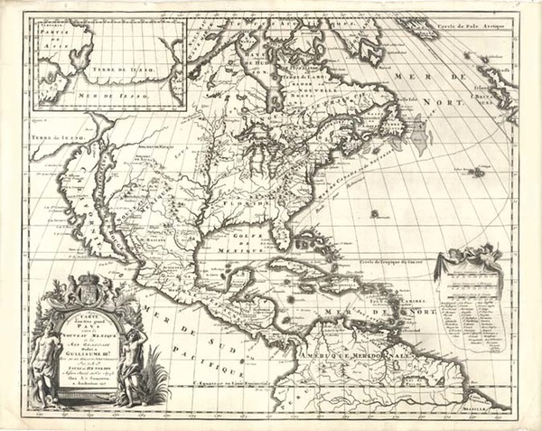 6-Midwest and North America Map By Louis de Hennepin
