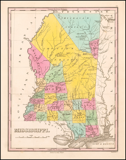 Mississippi Map By Anthony Finley