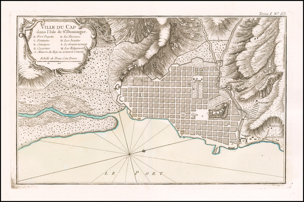 21-Hispaniola Map By Jacques Nicolas Bellin