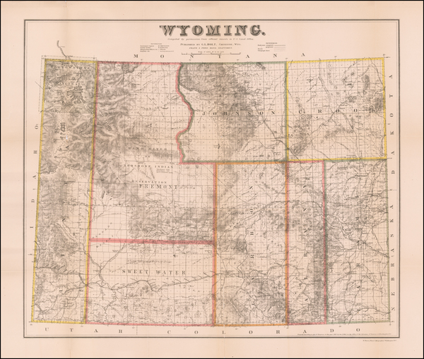 63-Wyoming Map By G.L. Holt