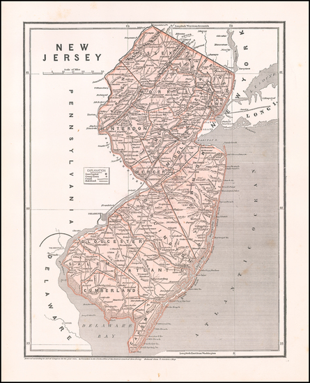 62-New Jersey Map By Sidney Morse  &  Samuel Breese