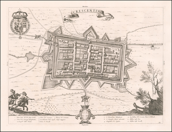 48-Other Italian Cities Map By Johannes et Cornelis Blaeu