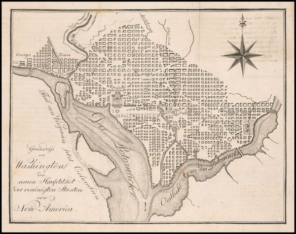 17-Washington, D.C. Map By Eberhard August Wilhelm von Zimmermann