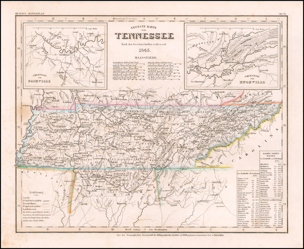 76-Tennessee Map By Joseph Meyer