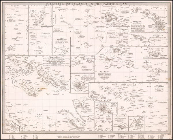 58-Hawaii, Pacific, Oceania, Hawaii and Other Pacific Islands Map By SDUK
