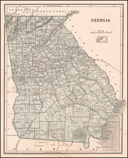 87-Georgia Map By Sidney Morse  &  Samuel Breese