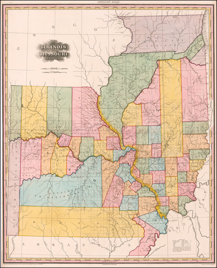 52-Midwest, Illinois, Plains and Missouri Map By Henry Schenk Tanner
