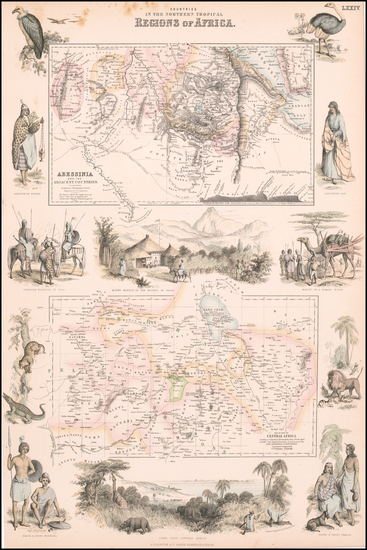 1-East Africa and West Africa Map By Archibald Fullarton & Co.