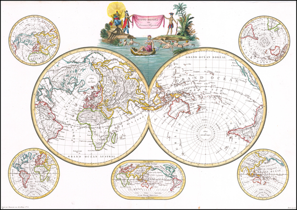 15-World Map By Conrad Malte-Brun