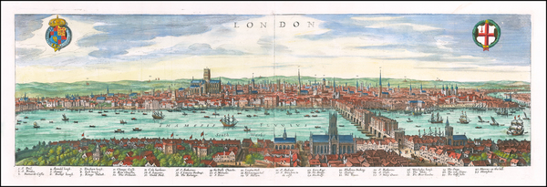 63-London Map By Matthaeus Merian