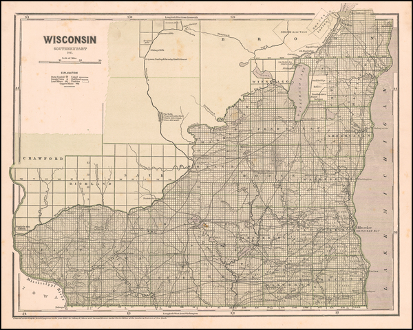 32-Wisconsin Map By Sidney Morse  &  Samuel Breese