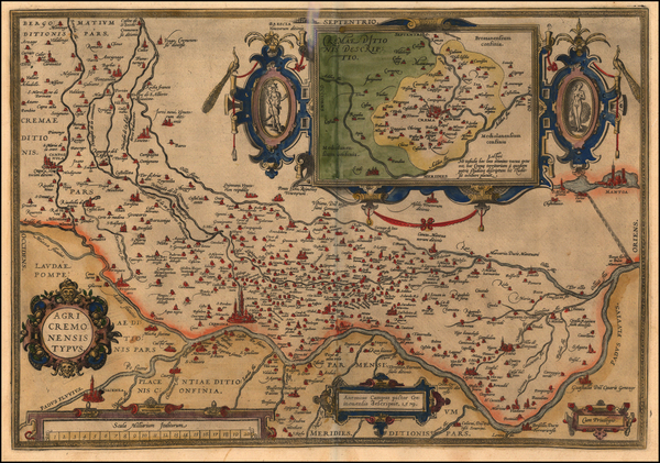 84-Europe and Italy Map By Abraham Ortelius
