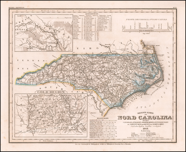 71-North Carolina Map By Joseph Meyer