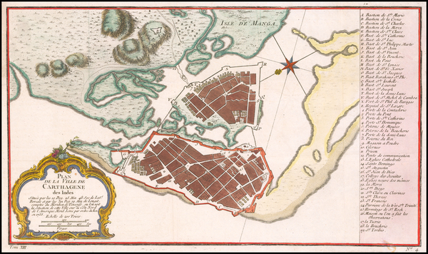 76-Colombia Map By Jacques Nicolas Bellin