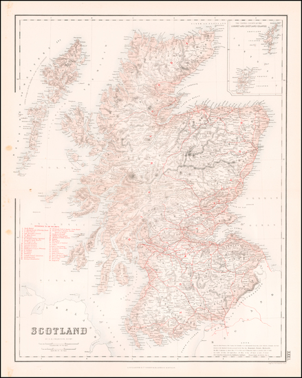 33-Scotland Map By Archibald Fullarton & Co.