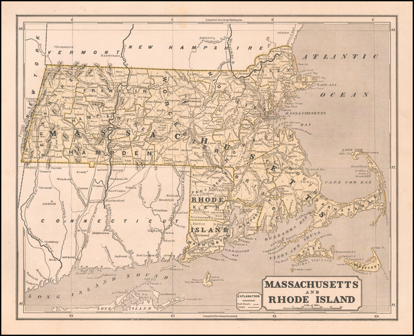 16-Massachusetts Map By Sidney Morse  &  Samuel Breese
