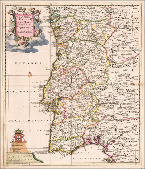 Portugal Map By Theodorus I Danckerts
