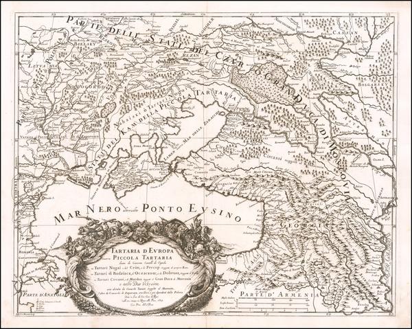 27-Poland, Russia and Ukraine Map By Giacomo Giovanni Rossi - Giacomo Cantelli da Vignola