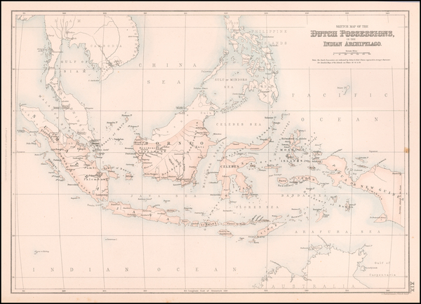 34-Philippines and Indonesia Map By Archibald Fullarton & Co.