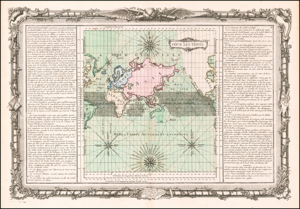 38-World and Curiosities Map By Buy de Mornas