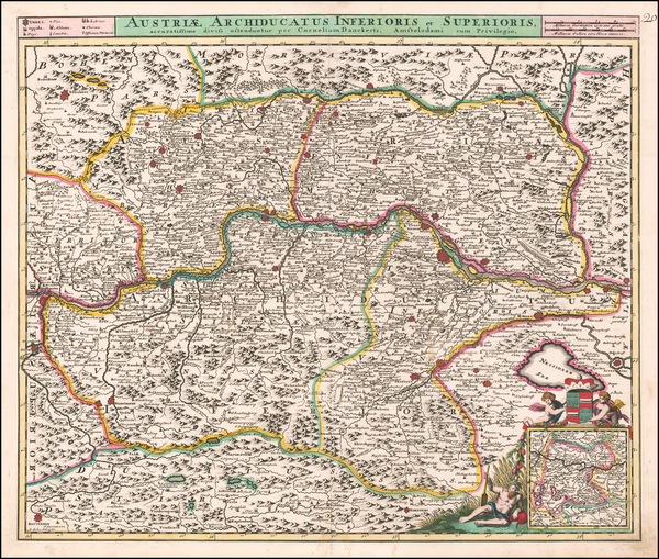 96-Austria Map By Cornelis II Danckerts