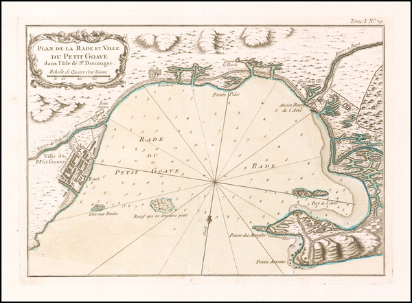 87-Hispaniola Map By Jacques Nicolas Bellin
