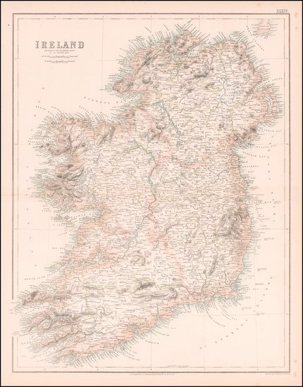 74-Ireland Map By Archibald Fullarton & Co.