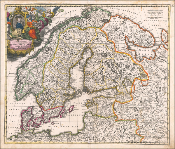 57-Scandinavia Map By Johann Baptist Homann