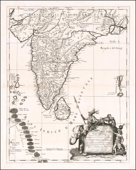 21-India Map By Giacomo Giovanni Rossi - Giacomo Cantelli da Vignola