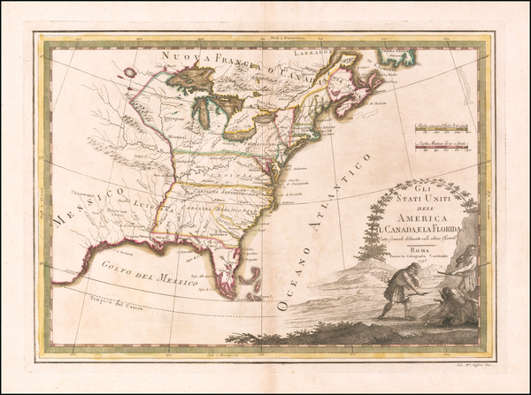 44-United States Map By Giovanni Maria Cassini