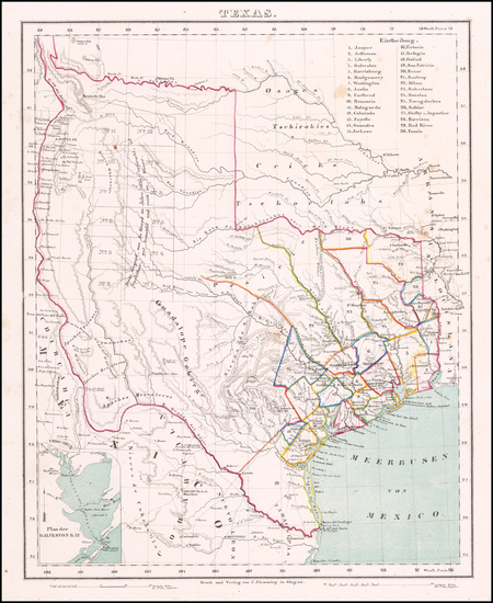 98-Texas Map By Carl Flemming