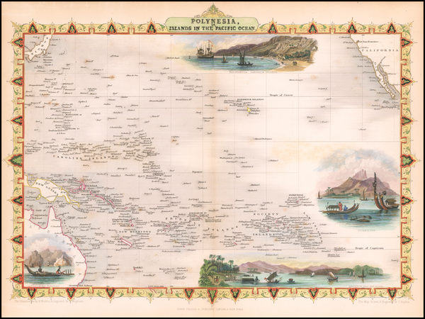 44-Pacific, Oceania, Hawaii and Other Pacific Islands Map By John Tallis