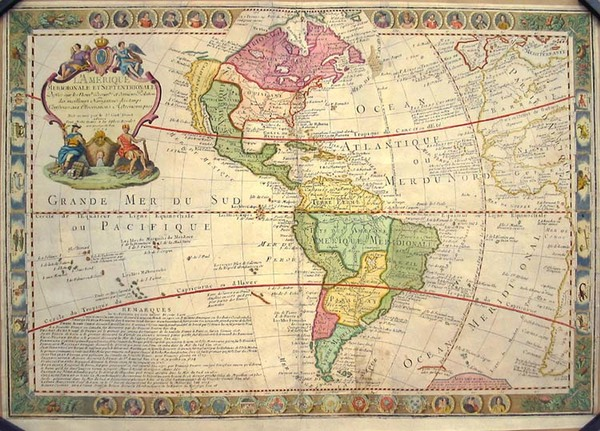 10-South America and America Map By Guillaume Danet