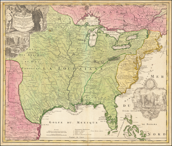 53-United States, South, Southeast, Texas, Midwest, Plains and Southwest Map By Johann Baptist Hom
