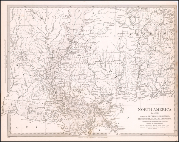 27-South, Louisiana, Alabama and Mississippi Map By SDUK
