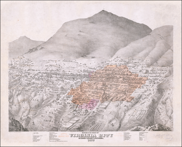 39-Southwest, Nevada, California and Other California Cities Map By Augustus Koch