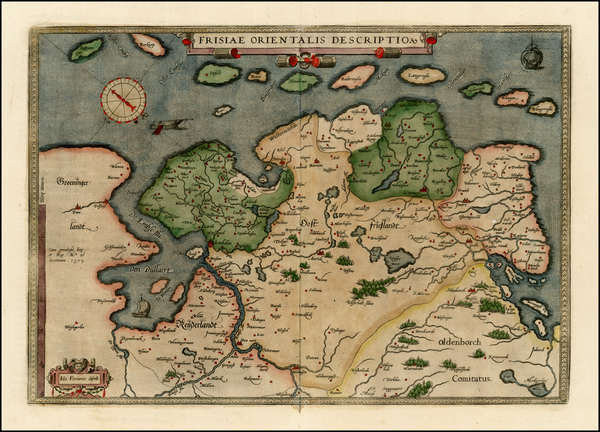 31-Netherlands and Germany Map By Abraham Ortelius