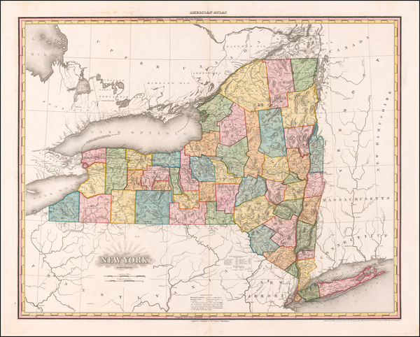 59-New York State Map By Henry Schenk Tanner