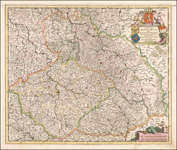 78-Poland and Czech Republic & Slovakia Map By Frederick De Wit