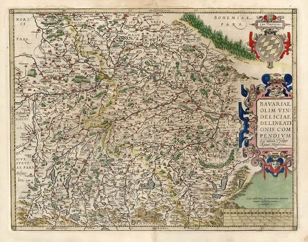 64-Europe and Germany Map By Abraham Ortelius