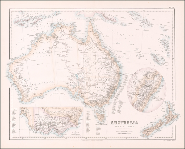 31-Australia and New Zealand Map By Archibald Fullarton & Co.