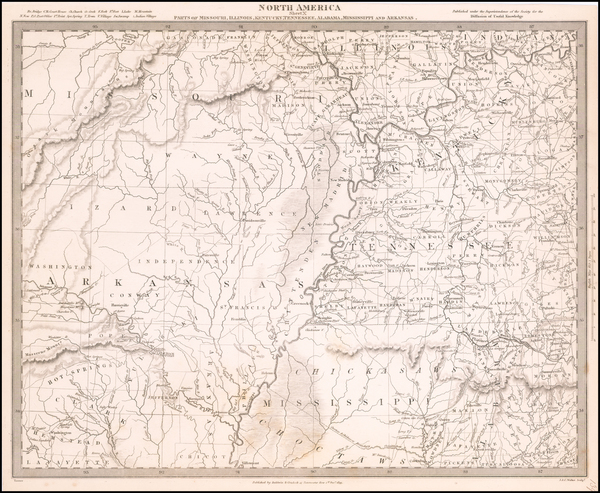 1-Mississippi, Arkansas, Kentucky, Tennessee and Missouri Map By SDUK