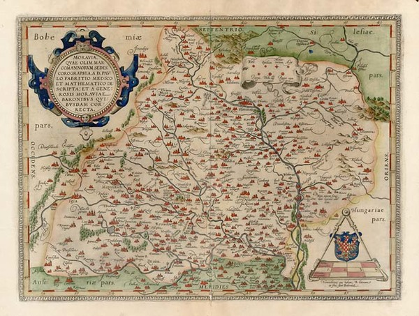13-Austria and Czech Republic & Slovakia Map By Abraham Ortelius
