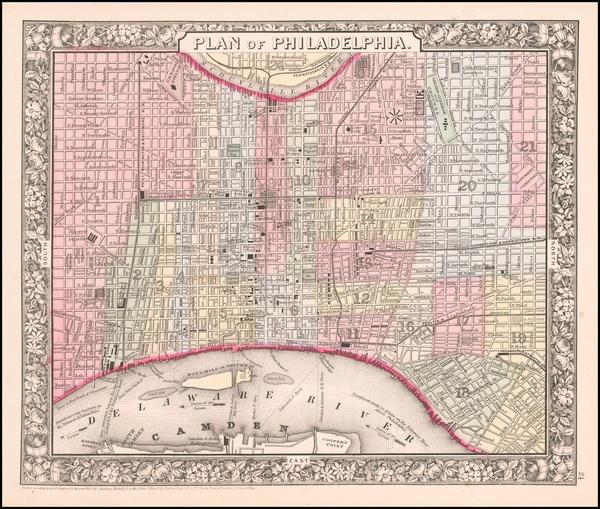 2-Pennsylvania Map By Samuel Augustus Mitchell Jr.