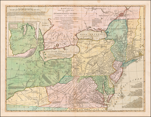 34-United States, New York State, Mid-Atlantic and Midwest Map By Carrington Bowles  &  Lewis