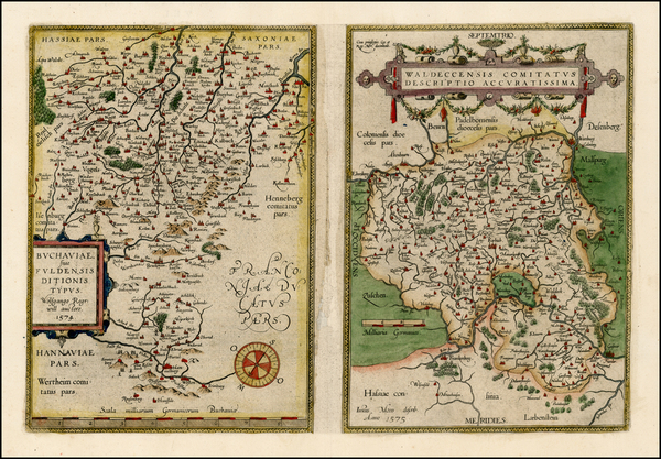 34-Germany Map By Abraham Ortelius