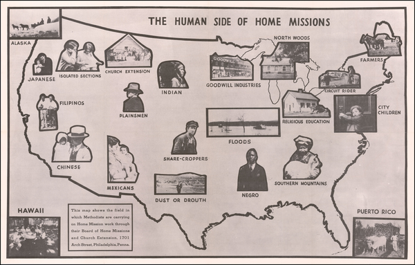 0-United States and Pictorial Maps Map By Board of Home Missions an Church Extensions