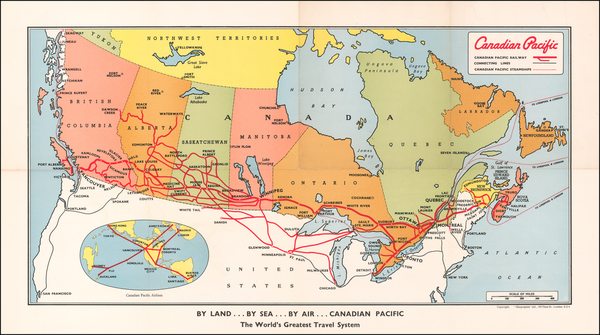 75-Canada Map By Canadian Pacific Railway