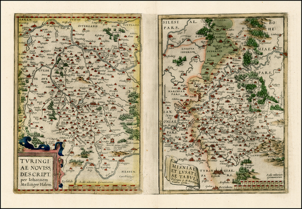 65-Germany and Czech Republic & Slovakia Map By Abraham Ortelius